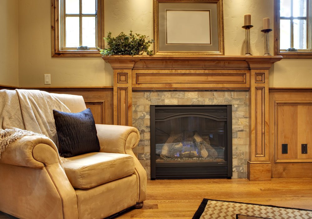 Fireplace service and repair.