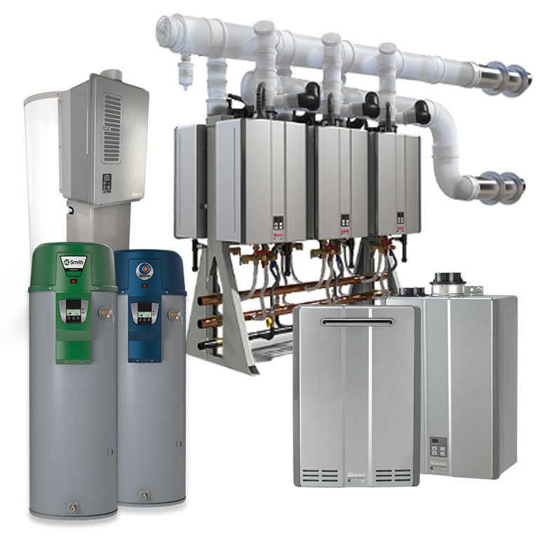 Rinnai, A.O. Smith, and State Water Heating Systems.
